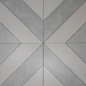 diagonal ash in x pattern