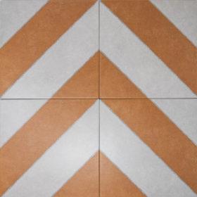 diagonal ocre in chevron pattern