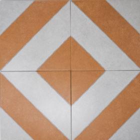 diagonal ocre in diamond pattern