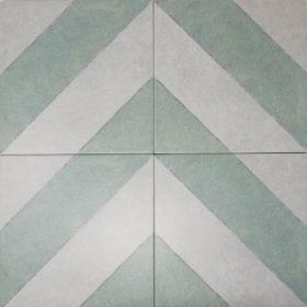 diagonal sage in chevron pattern